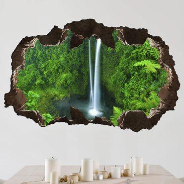 3D Wandtattoo - Paradiesischer Wasserfall - Quer 2:3
