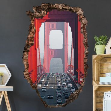3D Wandtattoo - Trip down the Bridge - Hoch 3:2