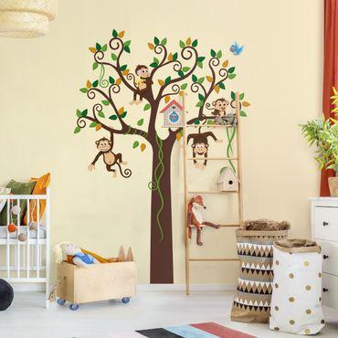 Wandtattoo Babyzimmer No.YK27 Affenbaum