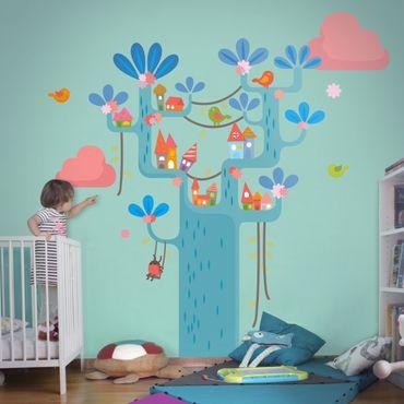 Wandtattoo Babyzimmer Wald No.EK153 Spielbaum