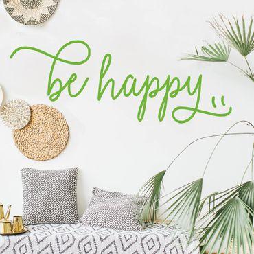 Wandtattoo - be happy