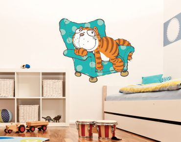 Wandtattoo Cool Cats Katze Hungry