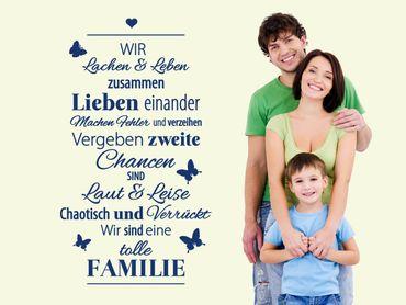 Wandtattoo Eine tolle Familie