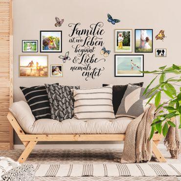 Wandtattoo - Familie ist wo Leben beginnt