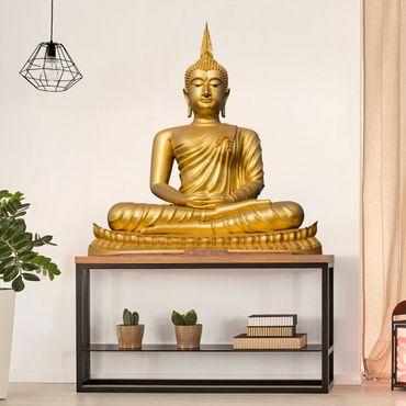 Wandtattoo Goldener Buddha