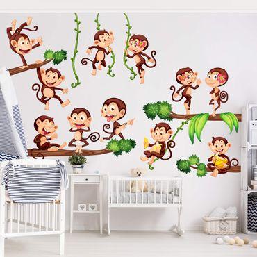 Wandtattoo Kinderzimmer Affen des Dschungels