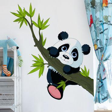 Wandtattoo Kinderzimmer Kletternder Panda