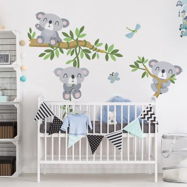 Wandtattoo Kinderzimmer Koala Set