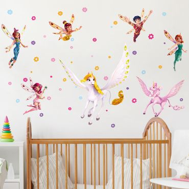 Wandtattoo Kinderzimmer Mia and Me - Sara, Onchao, Kyara mit den Elfen