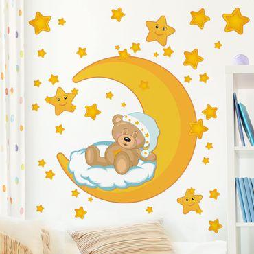Wandtattoo Kinderzimmer Teddys Sternenhimmel Traum