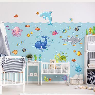 Wandtattoo Kinderzimmer Unterwasserwelt - Fisch Set