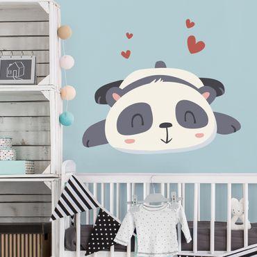 Wandtattoo Kinderzimmer Verliebter Panda