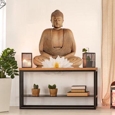 Wandtattoo Lotus Holz Buddha