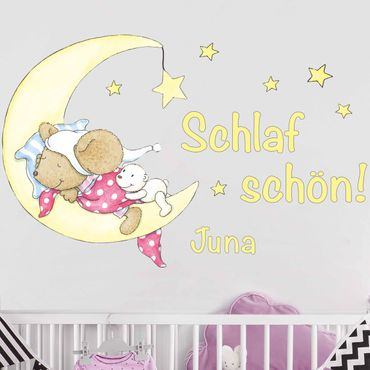 Wandtattoo mit Wunschtext - Lillebi Schlaf Schön!
