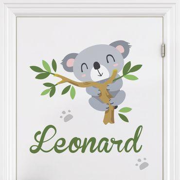 Wandtattoo Namen Kinderzimmer - Koalabär Zweig - Wunschtext