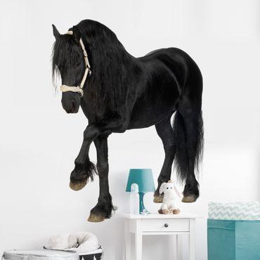 Wandtattoo Pferd No.276 Friesenstute