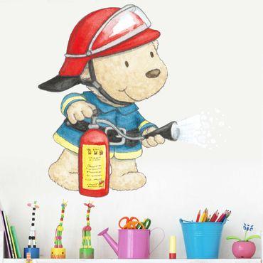 Wandtattoo - Pitzelpatz als Feuerwehrmann