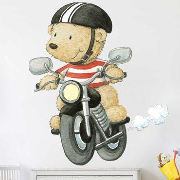 Wandtattoo - Pitzelpatz fährt Motorrad