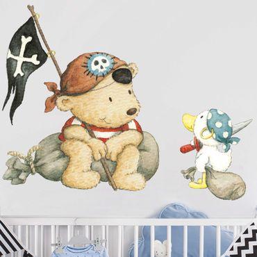Wandtattoo - Pitzelpatz und Schnaddeldatz als Pirat