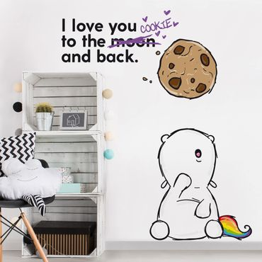 Wandtattoo Pummeleinhorn to the Cookie