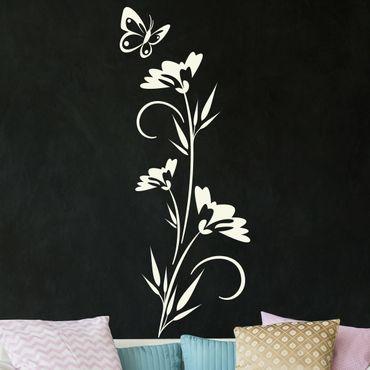 Wandtattoo Ranke Blütenpracht