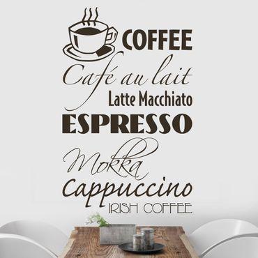 Wandtattoo Sprüche - Wandworte No.SF130 Coffee