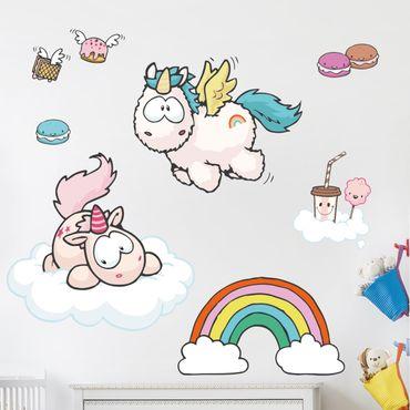 Wandtattoo Theodor & Rainbow Flair fliegen