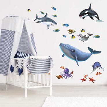 Wandtattoo Kinderzimmer - Animal Club International - Tiere im Meer