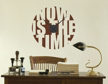 Wandtattoo-Uhr Now is the time