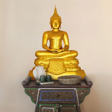 Wandtattoo Zen Buddha Gold