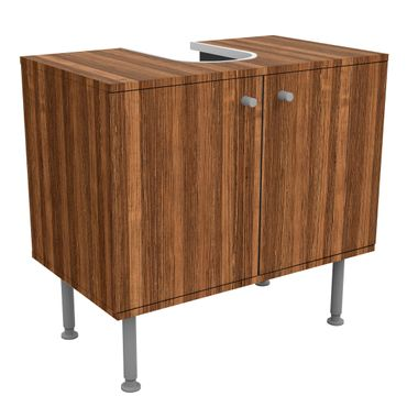 Waschbeckenunterschrank - Holz Amazakou - Holzoptik Badschrank Braun