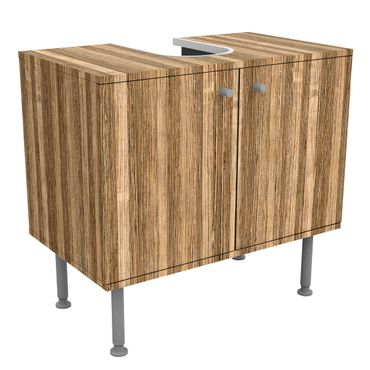 Waschbeckenunterschrank - Holz Amazakou Light - Holzoptik Badschrank Braun