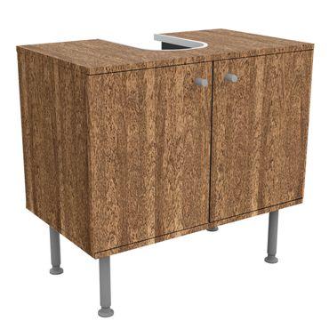Waschbeckenunterschrank - Holz Amburana - Holzoptik Badschrank Braun
