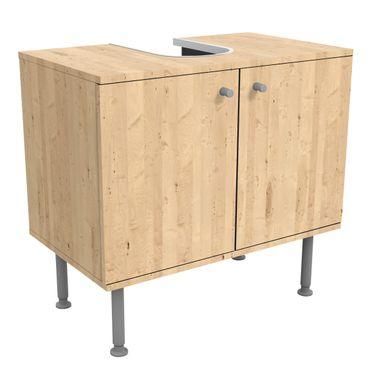 Waschbeckenunterschrank - Holz Apfelbirke - Holzoptik Badschrank Beige