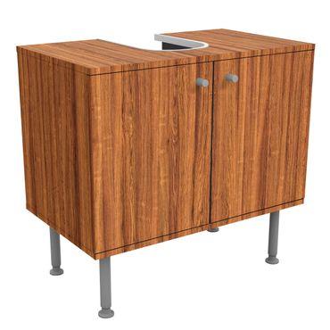 Waschbeckenunterschrank - Holz Freijo - Holzoptik Badschrank Braun