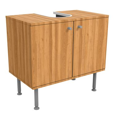 Waschbeckenunterschrank - Holz Zitrone - Holzoptik Badschrank