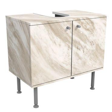 Waschbeckenunterschrank - Palissandro Marmor Beige - Badschrank