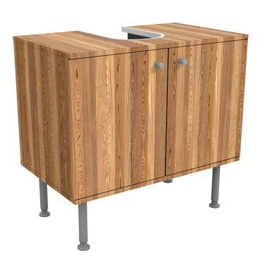 Waschbeckenunterschrank - Holz Sen - Holzoptik Badschrank Braun
