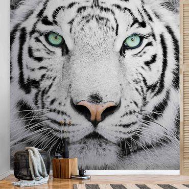 Metallic Tapete  - Weißer Tiger