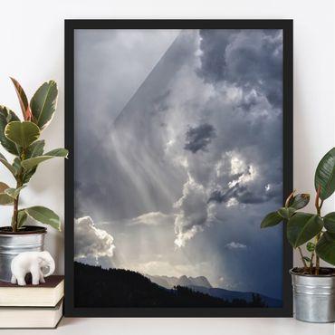 Bild mit Rahmen - Wilde Wolken - Hochformat
