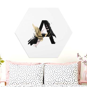 Hexagon-Forexbild - Wunschbuchstabe Aquarell