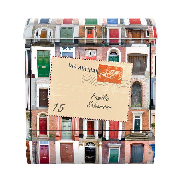 Briefkasten mit eigenem Text & Hausnummer - 100 Türen