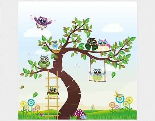 Beistelltisch - Lustiger Eulenbaum