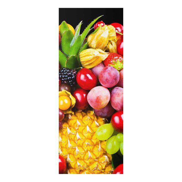 Glasbild - Fruit Bokeh - Panorama Hoch