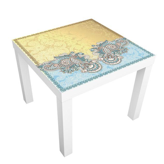 Möbelfolie für IKEA Lack - Klebefolie Stamp Pattern