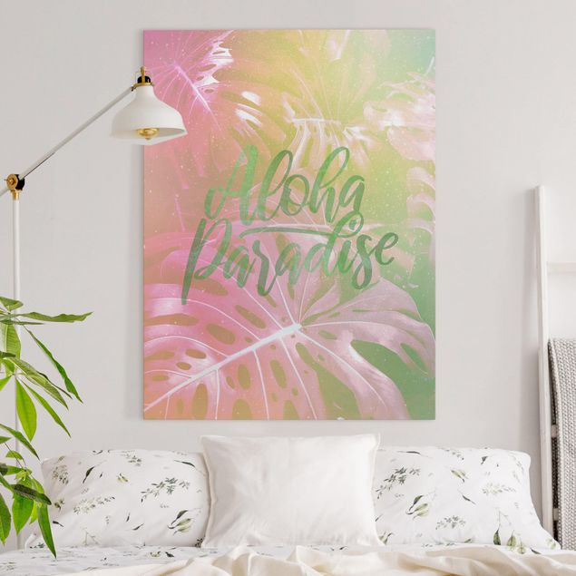 Leinwandbild - Rainbow - Aloha Paradise - Hochformat 4:3