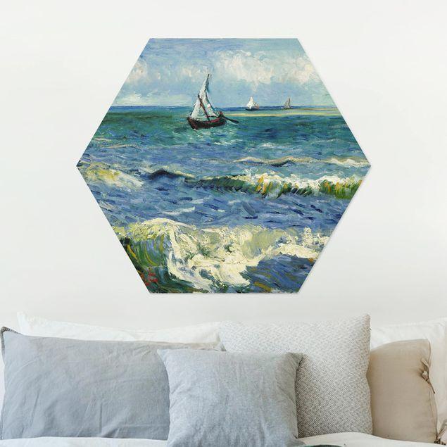Hexagon Bild Alu-Dibond - Vincent van Gogh - Seelandschaft