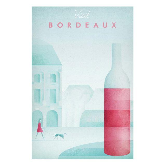 Magnettafel - Reiseposter - Bordeaux - Memoboard Hochformat 3:2