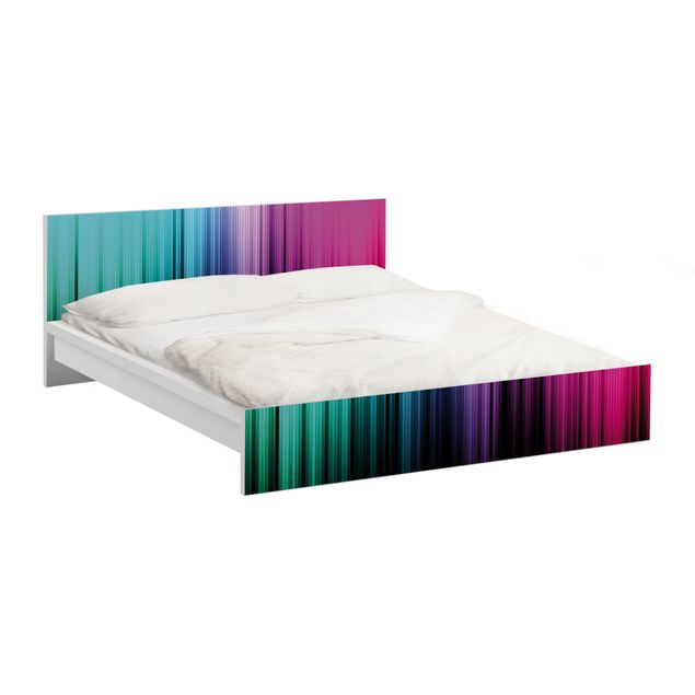 Möbelfolie für IKEA Malm Bett niedrig 160x200cm - Klebefolie Rainbow Display