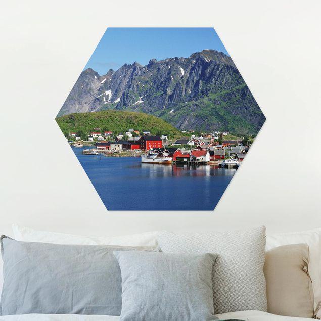 Hexagon Bild Alu-Dibond - Finnmark
